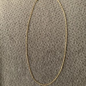 "20"" 14k gold rope chain"